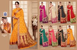 Rachna Banarasi Silk Saawariya Catalog Saree Set For Woman