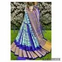 Pure Tussar Silk Saree With Running Blouse