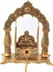 Gold Plated Laddu Gopal Jhulla For Home Tample & Corporate Gift