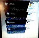 Hp CF540 Color Toner Cartridges Set (CF540A/CF541A/CF542A/CF543A ), For Laser Printer