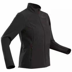Women Forclaz Trek 100 Black W Mountain Windproof Jacket