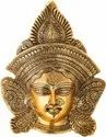 Metal Gold Plated Durga Face Wall Hanging For Home Decoration & Corporate Gift