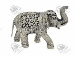 Elephant Home Polished Silver Plated Artifacts