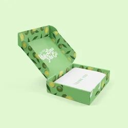 Green Paper Stickers, Packaging Type: Box