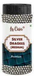 La Casa Silver Dragees (Medium Size/4mm), Shape: Round