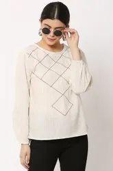 Galaxy Trendz 100% Cotton Designer Girls Top