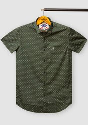 Roman Island Silk Half Sleeve Mens Shirt