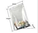Clear Silver Standy Zipper Pouch