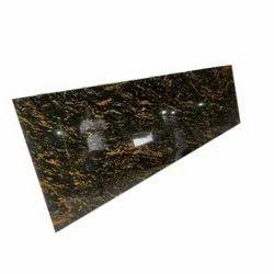Polished Cosmic Gold Granite Slab, Thickness: 15-20 mm