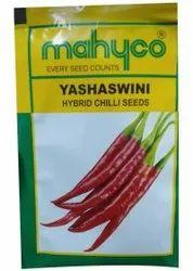Red Mahyco Yashaswini Hybrid Chilli Seed, Packaging Type: Packet, Packaging Size: 10gm