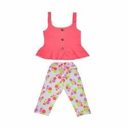 Sleeveless Top With Full Pant For Kids Girls