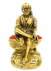 Gold Plated Sai Baba Statue For Home Decor & Corporate Gift