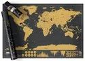 Dakos Tin Scratch Off Map Of The World Poster, Wall Art For Loved Ones And Travelers (small)