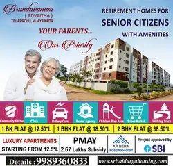 Brundavanam Retirement Homes In Vijayawada, Telaprolu.1 Bhk, 2 Bhk Flats For Sale