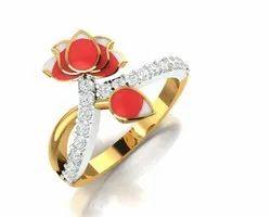 Diamond Lotus Ring