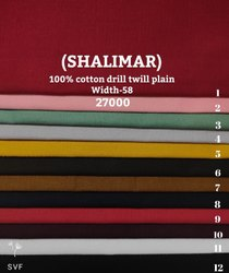 Shalimar 100% Cotton Drill Twill Plain Shirting Fabric