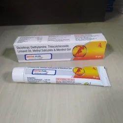 Diclofenac Diethylamine Thiocholchicoside Linseed Oil Menthol Gel