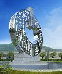 Multicolor Steel Corporates Sculpture, For Decoration, Size: 10 Feet