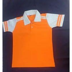 Raj Lakshmi Hosiery Half Sleeves School T-Shirts, Size: Medium