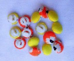 Mushroom Fabric Cover Button Fancy Ladies Kurti Buttons