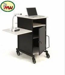 Multi Media Work Center With Lockable Storage