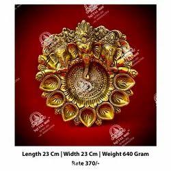 Gold Ganesha Diya