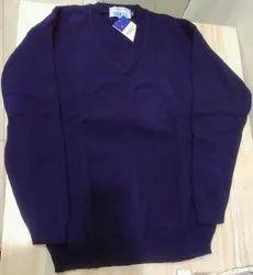 Acrylic/Wool Blend/Pure Wool navy Sweater