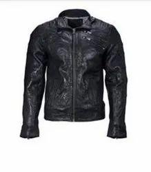 Stunning Black Leather Jacket Men's