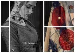 Pure Linen Silk Digital Printed Sarees