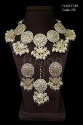 Fusion Arts Kundan Pearl Necklace Set