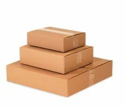 Brown Die-Cut Industrial Corrugated Packaging Box, Size(LXWXH)(Inches): 10 X 10 X 10 Inch