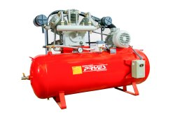 PRYES AC Three Phase 15 Hp Reciprocating Air Compressor, Maximum Flow Rate (CFM): 45, Model Name/Number: PRS15-2
