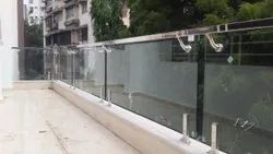 50mm Silver SS304 & Glass Balcony Railings