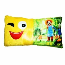 Sublimation Smiley Rectangular  Cushion