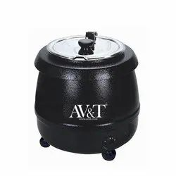 Black Round Soup Tureen Electric, 5kg, Capacity: 10 Liter