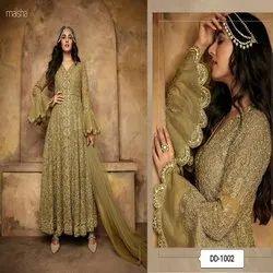 3 Color Latest New Designer Heavy Net Gown
