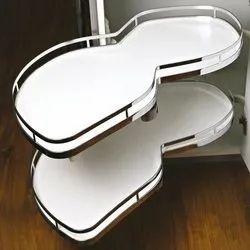 Slimline Left Side Silver Stainless Steel Soft Close Swing Corner, For Home