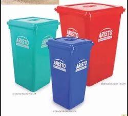 Storage Bucket With Flat Lid