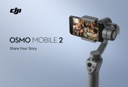 Black Plastic Dji Osmo Mobile 2 Handheld Smartphone Gimbal With Base