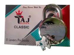 With Key Normal Taj Super Classic Iron Padlock, Padlock Size: 63mm, Chrome