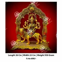 Golden Durga Maa God Statue
