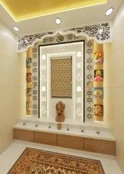 Marble Glossy Temple Interior Designing Service, For Home