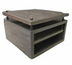 Polished Dark Brown Square Modern Iron Tea Table, For Hotel, Size: 16*16inch
