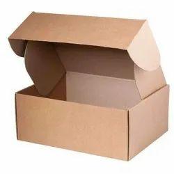 Brown Single Wall 3 Ply Corrugated Box & Carton Box, Weight Holding Capacity (Kg): 5 - 10 Kg