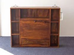 Wooden Study Table Wall Mounted