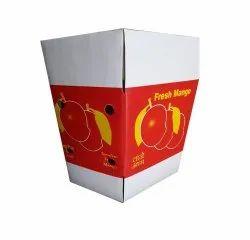 Kraft Paper White Mango Packaging Corrugated Box, Box Capacity: 10 Kg