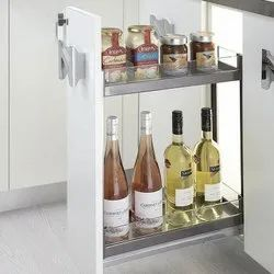 Slimline Glass Bottle Pullout With Soft Close For 150mm Carcass Width (2 Shelf)