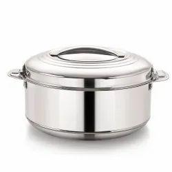Rio Stainless Steel Casserole 2000 Ml, Heavy Weight Steel Hot Pots