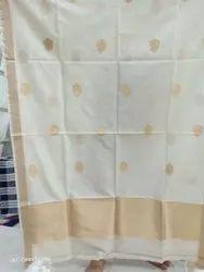 Weaving Pure Moonga Silk Fabric