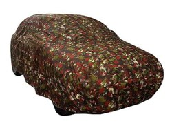 Suzec Jungle/Red Camo Print Car Body Cover 100% Heavy Quality Waterproof Premium Material